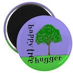 Happy Tree Hugger Magnet