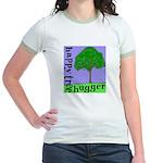 Happy Tree Hugger Jr. Ringer T-Shirt