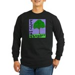 Happy Tree Hugger Long Sleeve Dark T-Shirt