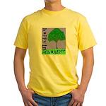 Happy Tree Hugger Yellow T-Shirt