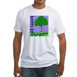 Happy Tree Hugger Fitted T-Shirt
