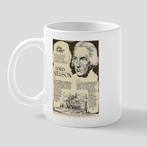Lord Nelson Mini Biography Mugs