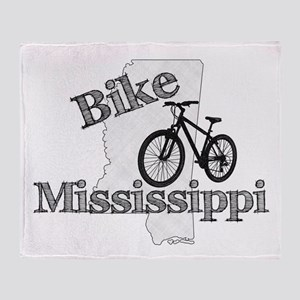 Bike Mississippi Throw Blanket