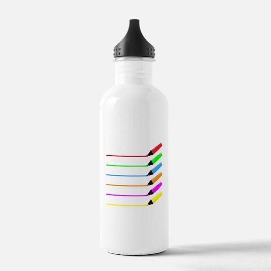Highliter Pen Collecti Water Bottle