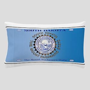South Dakota License Plate Flag Pillow Case