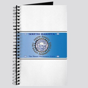 South Dakota License Plate Flag Journal