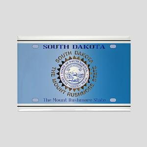 South Dakota License Plate Flag Magnets