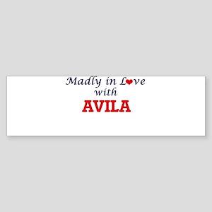 Madly in love with Avila Bumper Sticker