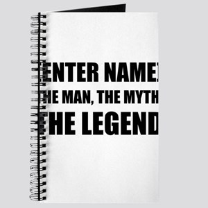 Man Myth Legend Personalize It! Journal