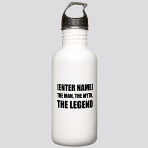 Man Myth Legend Personalize It! Water Bottle