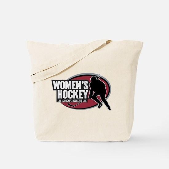 Women's Ice Hockey Tote Bag