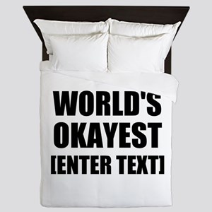 World's Okayest Personalize It! Queen Duvet