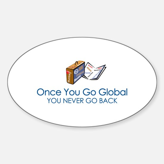 Global Girl Oval Decal