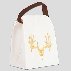 Deer skull orange Canvas Lunch Bag