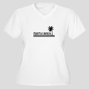 myrtlebchwhtplm.jpg Plus Size T-Shirt