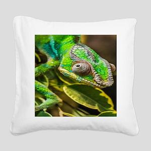 Chameleon Square Canvas Pillow
