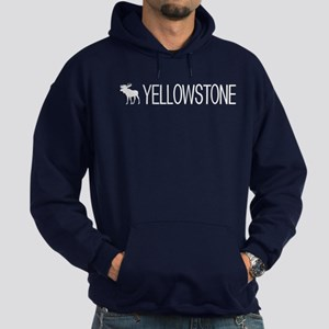 Yellowstone National Park: Moose (Wh Hoodie (dark)