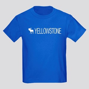 Yellowstone National Park: Moose Kids Dark T-Shirt
