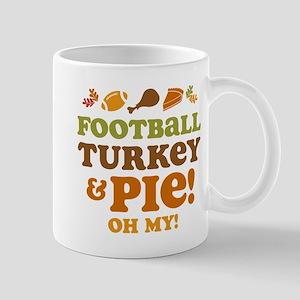 Football Turkey And Pie Mug