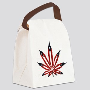 PR Weed Leaf Canvas Lunch Bag