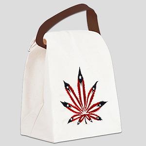 PR Weed Leaf Canvas Lunch Bag