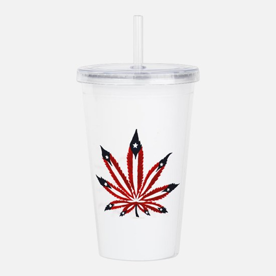 PR Weed Leaf Acrylic Double-wall Tumbler
