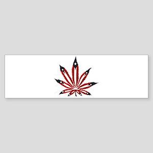 PR Weed Leaf Bumper Sticker