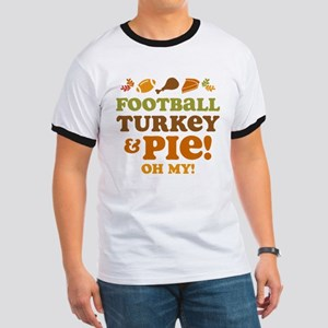 Football Turkey And Pie Ringer T