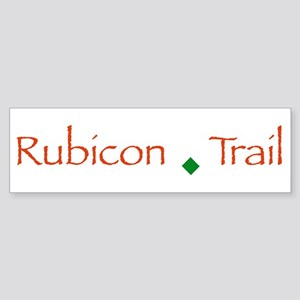 Rubicon Trail Type Bumper Sticker