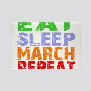 Eat Sleep March Repeat Dark Magnets