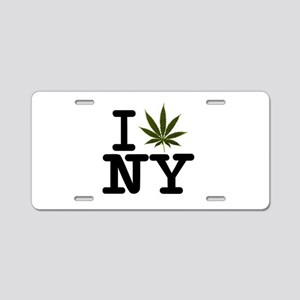 New York Love Weed Aluminum License Plate