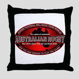 Australian Rugby Throw Pillow