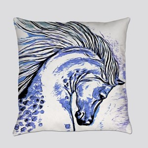 Purple Horse Everyday Pillow