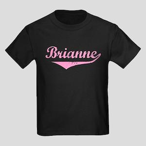 Brianne Vintage (Pink) Kids Dark T-Shirt