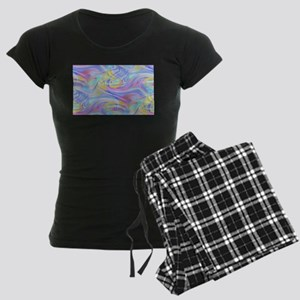 pastel hologram Women's Dark Pajamas