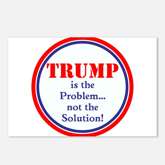 Trump, the problem, not the solution Postcards (Pa