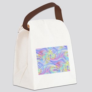 pastel hologram Canvas Lunch Bag