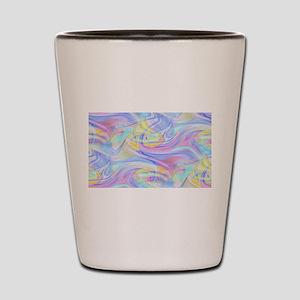 pastel hologram Shot Glass