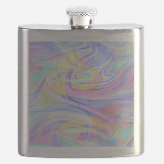 pastel hologram Flask