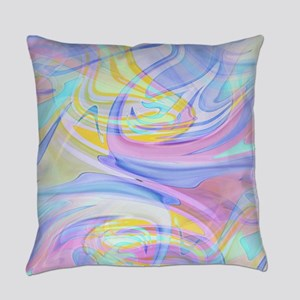 pastel hologram Everyday Pillow