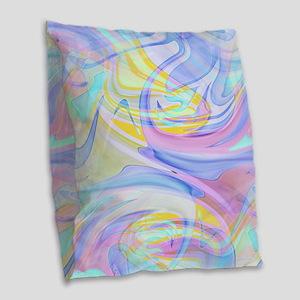 pastel hologram Burlap Throw Pillow