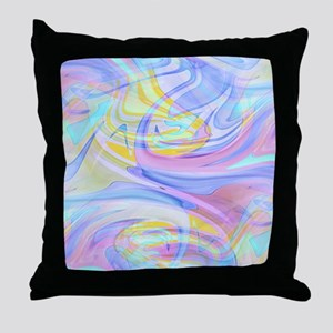 pastel hologram Throw Pillow