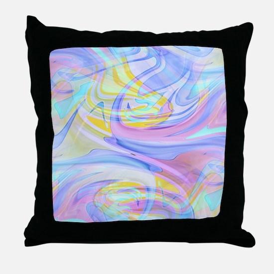 pastel hologram Throw Pillow