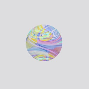 pastel hologram Mini Button