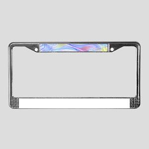 pastel hologram License Plate Frame