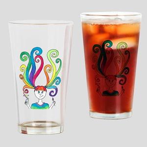 Rainbow Artist Drinking Glass
