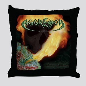 Skull Burner Throw Pillow