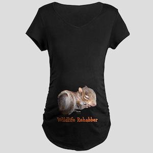 Baby Squirrel Rehab Maternity Dark T-Shirt