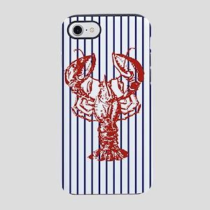 beach nautical stripes lobst iPhone 8/7 Tough Case