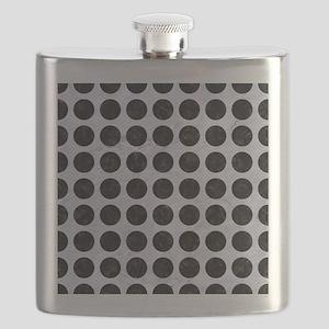 CIR1 BK-WH MARBLE (R) Flask